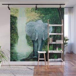 Elephant Walks the Jungle Wall Mural
