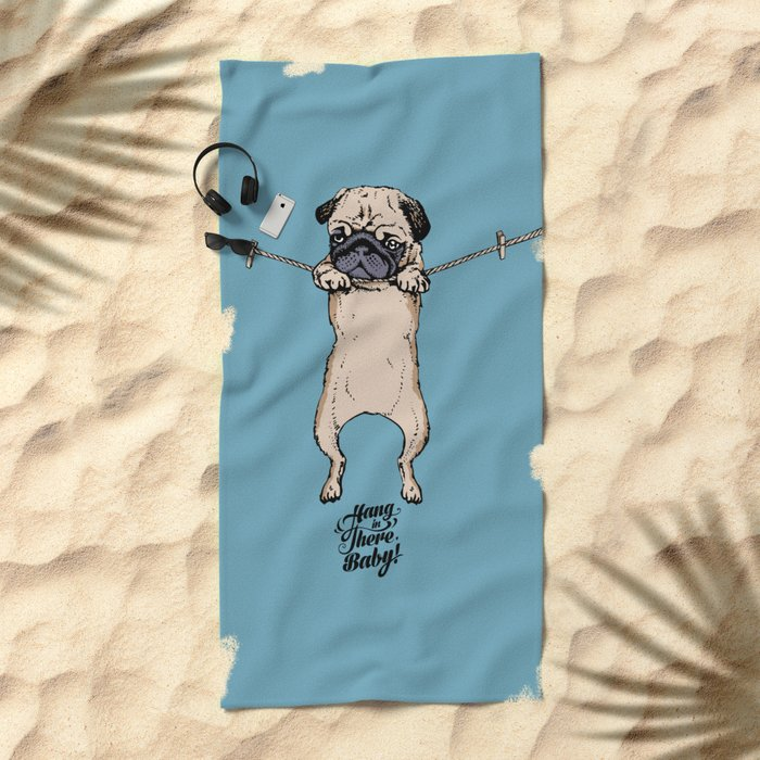 Hang in There Baby Beach Towel