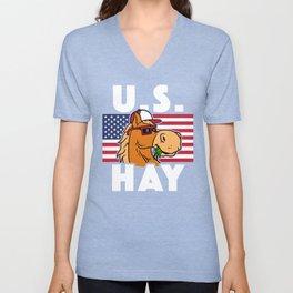 U S Hay Unisex V-Neck