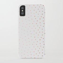 Rosegold Dots II iPhone Case