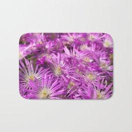 Pink Flower Field Bath Mat