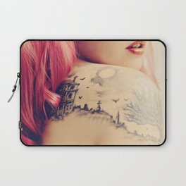 Haunted House Tattoo Laptop Sleeve