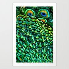 Peeping Eyes Art Print