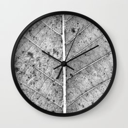 Abstract details of a big tree leaf Wall Clock