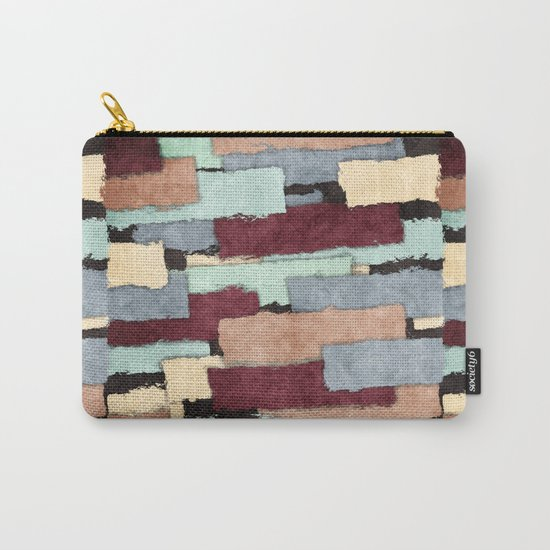 Abstract Patchwork Carry-All Pouch