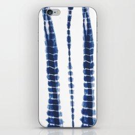 Indigo Blue Tie Dye Delight iPhone Skin