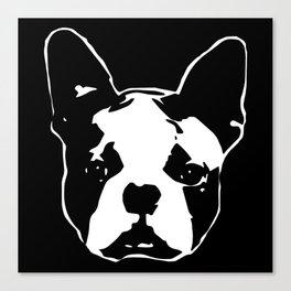 CHRISTMAS WITH YOUR BOSTON TERRIER DOG GIFT WRAPPED FOR YOU FROM MONOFACES Canvas Print