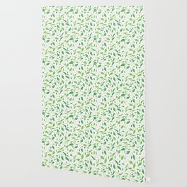 Tea leaves pattern Abstract Wallpaper