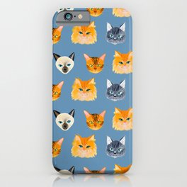 Cats Blue iPhone Case