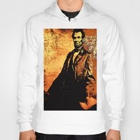 lincoln Hoodies featuring Abraham Lincoln by Saundra Myles
