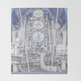 Hot Rod Blue, Automotive Art with Lots of Chrome by Murray Bolesta Throw Blanket