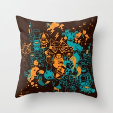 Dream Factory Orange and Blue Throw Pillow
