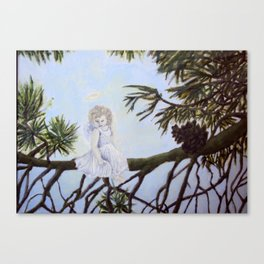 Angel in a Tree Canvas Print