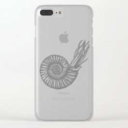 AMMONITE COLLECTION GRAY Clear iPhone Case