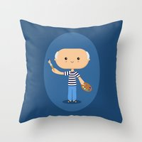 pablo picasso Throw Pillows featuring Pablo Picasso by Sombras Blancas Art & Design