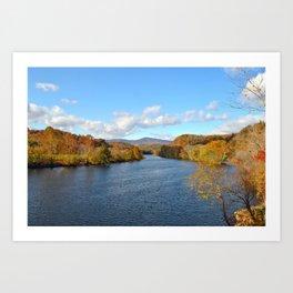 Fall on the James River Art Print