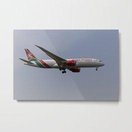 Kenya Airways Boeing 787 Metal Print