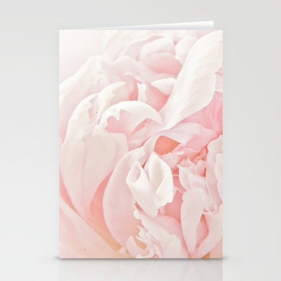 Peony Heart Stationery Cards