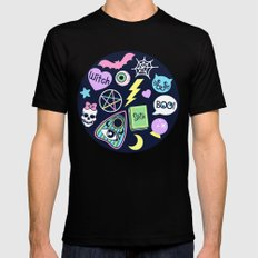 Spooky Babe Black MEDIUM Mens Fitted Tee