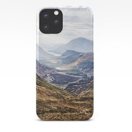 View of Glen Etive from Glencoe, Scotland iPhone Case