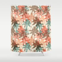 palm trees Shower Curtains featuring Palm trees by Julia