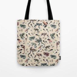 Frog pattern Tote Bag