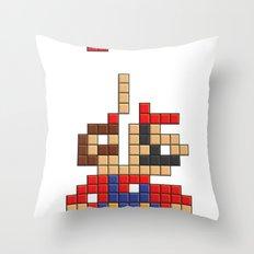 Super Mario Tetris Throw Pillow