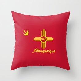 Flag of Albuquerque Throw Pillow