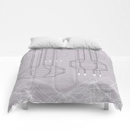 Geo Chandeliers - Pink Gray Comforters