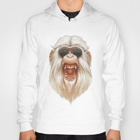 ruben Hoodies featuring The Great White Angry Monkey by Dr. Lukas Brezak