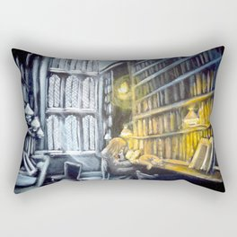 Hermione studying in the library Rectangular Pillow
