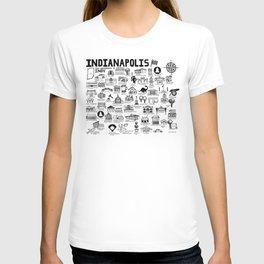Indianapolis Indiana Map T-shirt