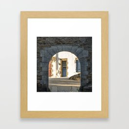The Arch and the House Framed Art Print