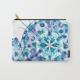 Snow Mandala Carry-All Pouch