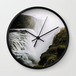 Gullfoss waterfall in Iceland - Landscape Photography Wall Clock