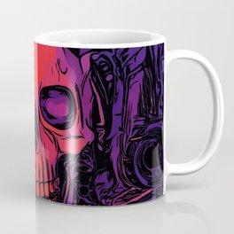Pink, Purple and Black Skull Coffee Mug