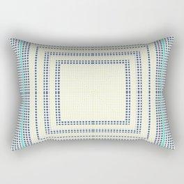 Grey turquoise plaid Rectangular Pillow