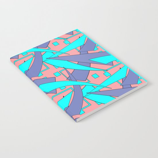 Creative abstract pattern . Geometric shapes . Notebook