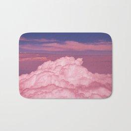 Pink Cotton Candy Clouds Bath Mat