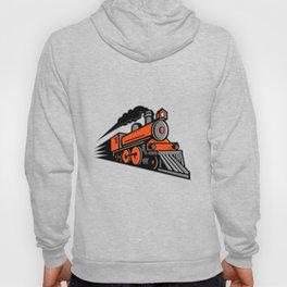 Steam Locomotive Speeding Mascot Hoody
