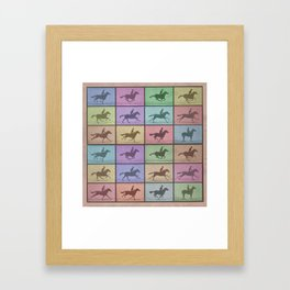 Time Lapse Motion Study Horse Color Framed Art Print