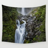 waterfall Wall Tapestries featuring Waterfall. by Michelle McConnell