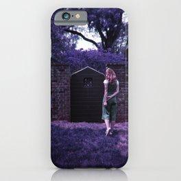 Alice Looking through Lavender Doorways  - Holga Film Photograph iPhone Case