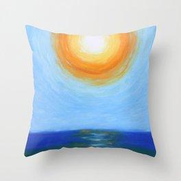 Haitian Sunrise coastal landscape painting by Joseph Stella Throw Pillow