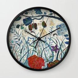 nature【Japanese painting】 Wall Clock