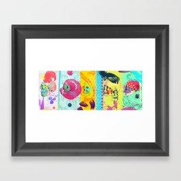 Candy knife fight Framed Art Print