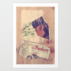 Indian Motorcicles Art Print