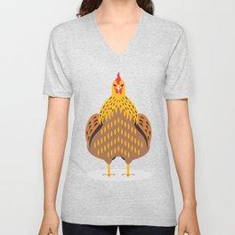 Cute Chicken Unisex V-Neck