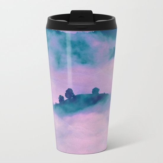 Forest land fog Metal Travel Mug