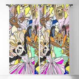 Party Animals Dancing Blackout Curtain